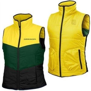 Columbia Oregon Ducks Reversible Vest 💚